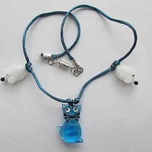 Cat and mouse pendant