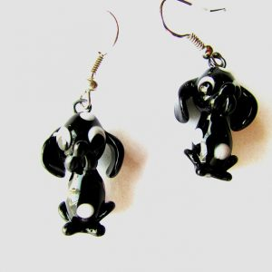 Glass Spotted dog earrings
